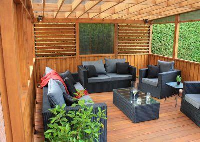 Patiodex Modele Design Trex Bois Traite Cedre Rouge 118 Decoration Exterieur Pergola Lieux A Visiter