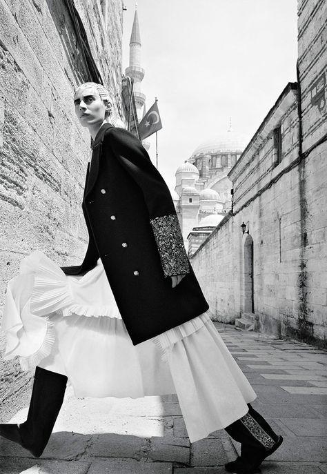 Julia Nobis by Craig McDean for W Magazine November 2015 | The Fashionography
