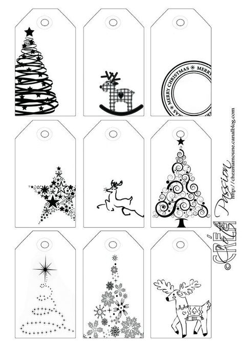 gift tags - passions, basket skating   - ingrid Black - #coldskin #holidays #snowflakes #winter -  etiquettes cadeaux – passions, patin couffin    Passion Side 9 tag BW Christmas Christmas Labels: