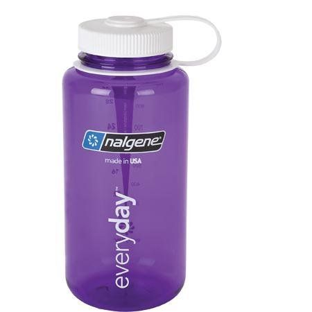2f00afef5 Available In Purple with White Lid. Available In Slate Blue. BPA free.  Available In Clear with Green Lid. This Everyday Wide Mouth Nalgene water  bottle ...