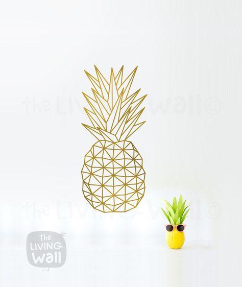 Art Mural Geometrique Ananas Fruit Stickers Mural Autocollant