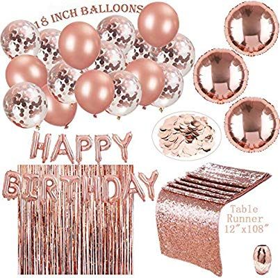 Amazon Rose Gold Party Decorations