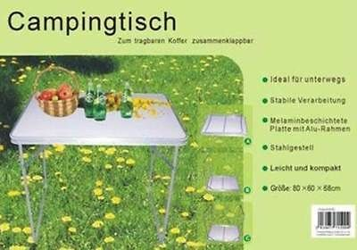 Campingtisch Klapptisch 80 X 60 X 68 Klappbar Tisch Fa