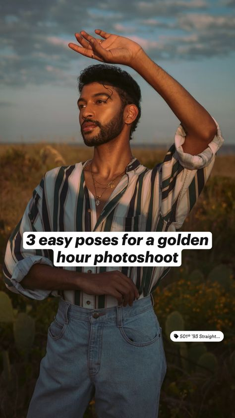 3 easy poses for a golden hour photoshoot