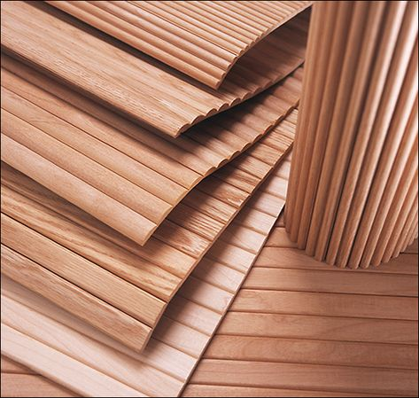 Tambour style 'doors' for cabinets/small closets Wood Slat Wall, Wood Slats, Wood Paneling, Panel Moulding, Clinic Design, Ideias Diy, Tambour, Interior Walls, Wall Treatments