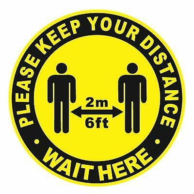10 Pack Social Distancing Floor Decal Stickers Anti Slip Safety Floor Sign Floor Stickers Floor Decal Safety Floor