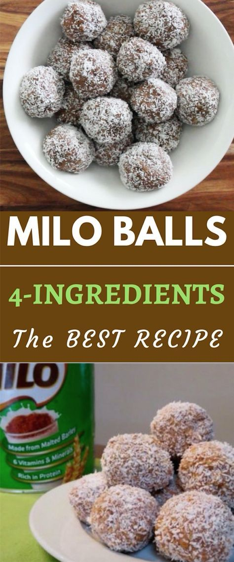 You Will Love This 4 Ingredient Milo Balls Recipe And It Couldn T Be Easier We Ve Included Condensed Milk Recipes Milo Recipe Sweetened Condensed Milk Recipes