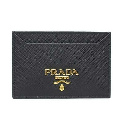 Ebay Sponsored Prada Saffiarno Metal Business Card Holder Case Calf Leather Black Nero Metal Business Cards Leather Card Holder Men Card Holder Case