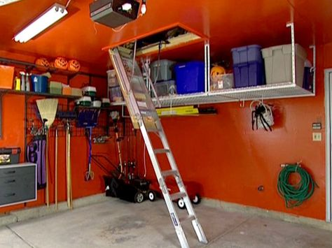 How To Install An Attic Ladder Attic Ladder Garage Attic Storage Ladder