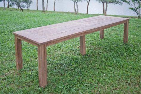 Teak Gartentisch 300 X 100 Cm Gartentisch Teak Tisch