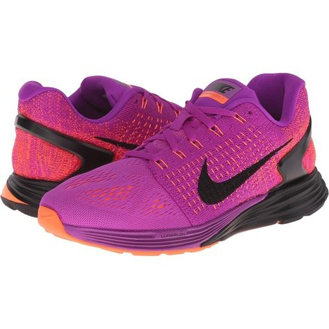 sports shoes 32ad4 7a759 Nike Lunarglide 7 Women s Running Shoes, Purple ( 100) ❤ liked on Polyvore  featuring shoes, athletic shoes, purple, running shoes, nike, flyknit shoes,  ...