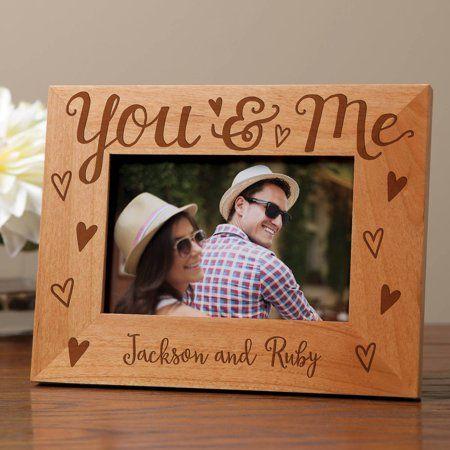 Personalized You Me Frame Walmart Com Homemade Picture Frames Homemade Pictures Personalised Frames