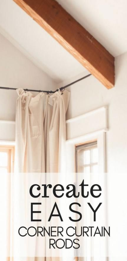 28 Trendy Ideas Bedroom Window Corner Curtain Rods In 2020