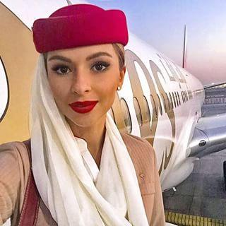 Elena On Air Emirates Emiratescrew Cabincrew Flightcrew Flightattendant Stewardess Airhostess Crewli Emirates Cabin Crew Flight Attendant Cabin Crew