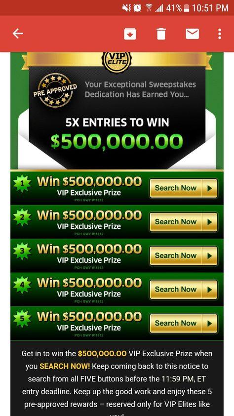 PCH big money Builder win it all