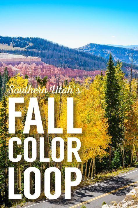 Drive Southern Utah S Fall Color Loop Cedar City Cedar City Utah Fall Colors