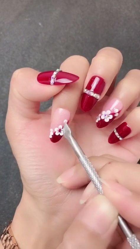 Simple nails art design video Tutorials Compilation Part 139 - #compilation #design #nails #simple #tutorials #Video - #New