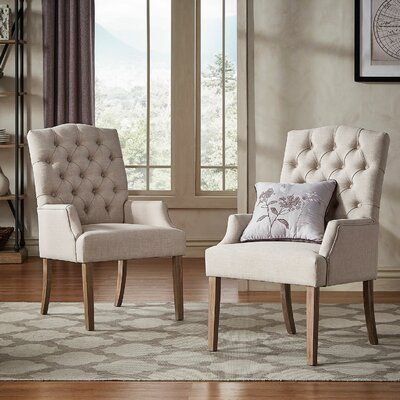 Kelly Clarkson Home Adeline Upholstered Dining Chair In 2021 Upholstered Dining Chairs Dining Chair Upholstery Accent Chairs For Living Room