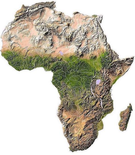 Think About Maps On Instagram Topographic Map Of Africa Wp The Average Elevation Of The Continent Approximates Closel Africa Map Relief Map African Map