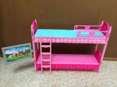 Letto A Castello Barbie.Barbie Sister Stacie Chelsea Skipper Doll Sleeptime Bedroom