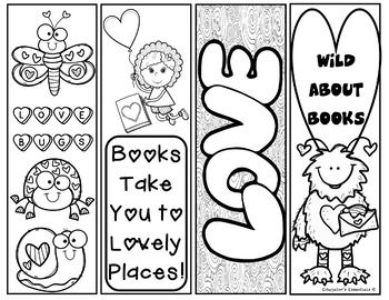 Valentine S Day I Love To Read Printable Bookmarks Bookmarks Printable Valentines Bookmarks Coloring Bookmarks
