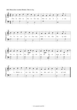 Alle Menschen Werden Bruder Ode To Joy By Ludwig Van Beethoven Piano Sheet Music Sheetdownload Piano Sheet Music Free Ode To Joy Sheet Music