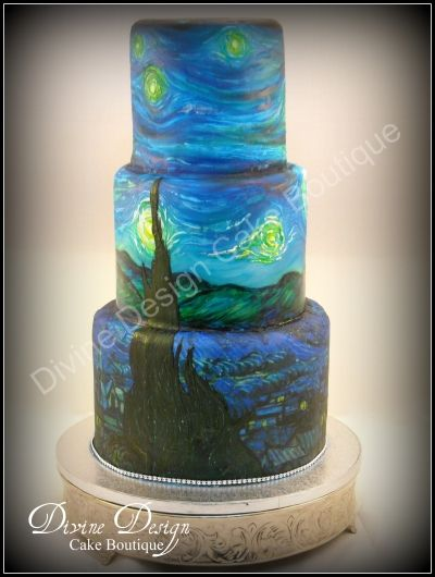 I obviously wouldn't try making this but it's one of my favorite paintings on a cake and it looks wonderful!