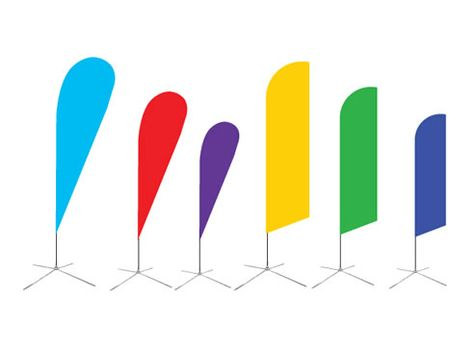 Custom Teardrop Banners Feather Banner Flying Banner Wind Flag Various Flag Shapes Of Various Sizes Various Bases Choose The One You Love Eventos