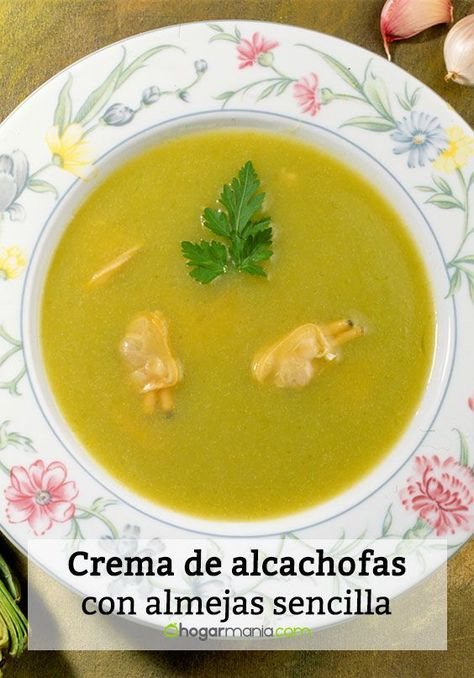 Receta De Crema De Alcachofas Con Almejas Sencilla Karlos Arguiñano Receta Crema De Alcachofas Alcachofas Cremas Y Sopas