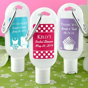 Personalized Silhouette Hand Sanitizer With Carabiner