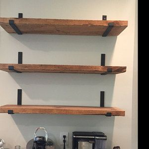 Free Shipping Walnut Shelf Complete Diy Kit Handmade Etsy Wood Floating Shelves Floating Shelves Diy Kitchen Shelf Brackets