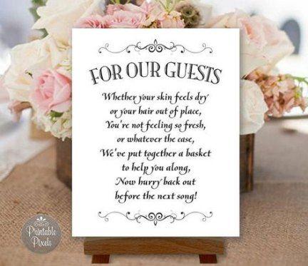 Best Wedding Reception Signs Bathroom Baskets Ideas Wedding Reception Signs Reception Bathroom Basket Bathroom Baskets