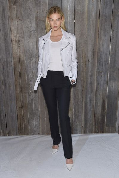 Model Karlie Kloss attends the Calvin Klein Collection during New York Fashion Week.