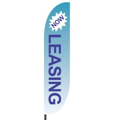 Pin On Now Leasing Feather Flags