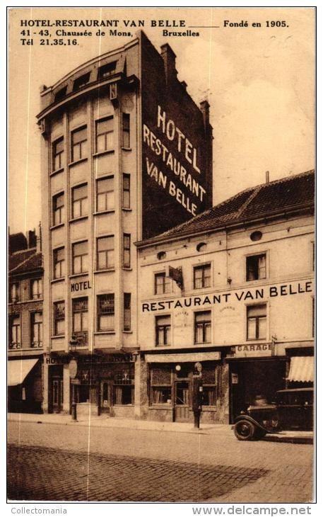 BRABANT 1 CP BrusseL   Hôtel  Restaurant Van Belle  Chausée de Mons
