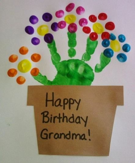 Baby Crafts For Grandparents 45 Trendy Ideas Grandma Birthday Card Birthday Card Craft Kids Birthday Cards