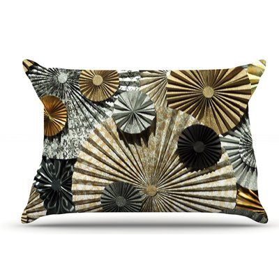 East Urban Home Heidi Jennings 'Grounded' Paper Pillow Case Color: Glitter  Brown