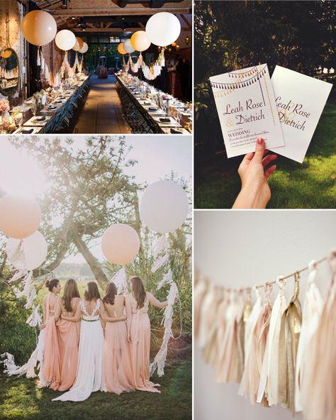 Romantische Hochzeit Mit Dekorierten Quasten In Pink Und Golden Tischdeko  Hochzeitskarten Einladung Großartige Vintage Hochzeit Mit Dekorierten Fedu2026