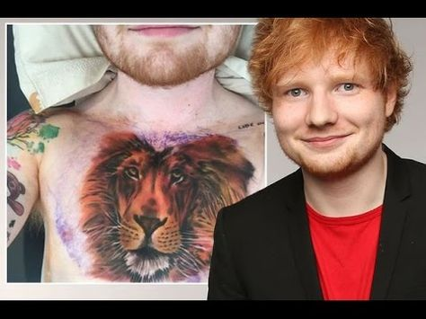 Ed Sheeran Gets A Massive Lion Inked On His Chest After Getting