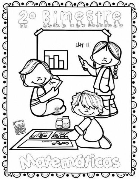 Dibujos Para Colorear Para Portadas Portadas De Matematicas