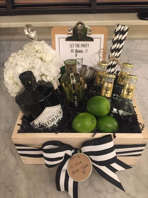 Best Gin gift basket for Fathers Day gifts DIY