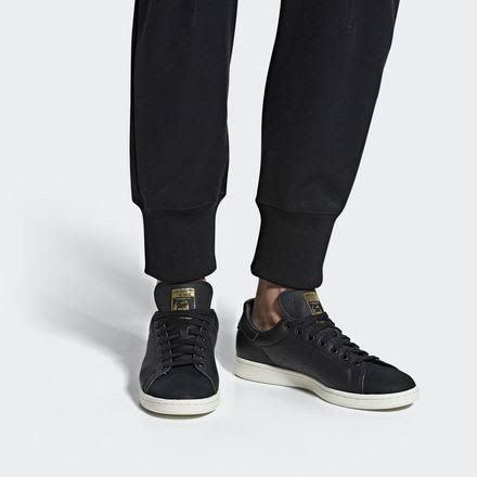 Mens adidas Stan Smith Premium Shoes Black