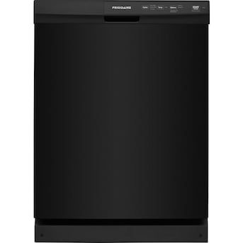 Frigidaire 60 Decibel Front Control 24 In Built In Dishwasher Black Energy Star Lowes Com Built In Dishwasher Black Dishwasher Frigidaire