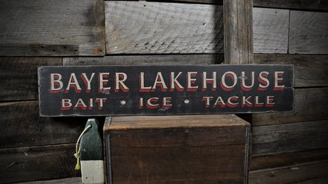 Rustic Hand Made Vintage Wooden ENS1001100 Custom Home Is Where Boat Is Sign