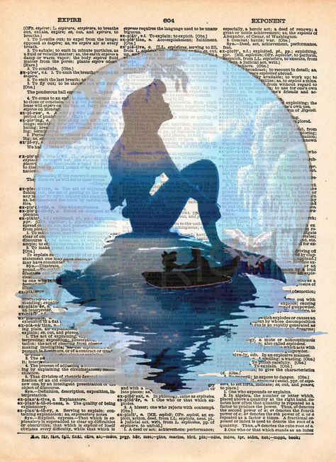 Little Mermaid Dictionary Art Print by CoolRare on Etsy