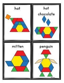Winter Pattern Blocks Cards Winter Math Winter Kindergarten