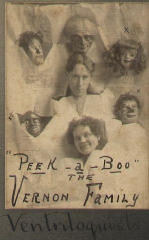Vintage ventriloquism portrait