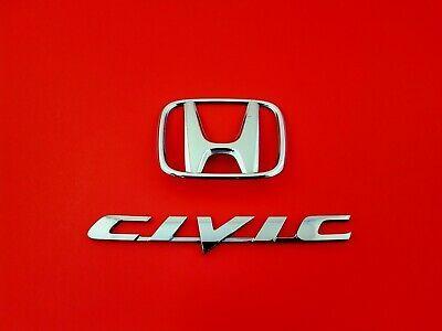 Sponsored Ebay 06 07 08 09 10 11 Honda Civic Sedan Rear Chrome Emblem Logo Badge Set Oem 2008 In 2020 Honda Civic Honda Civic Sedan Honda
