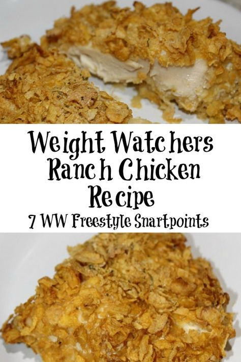 Nov 2019 - Weight Watchers Ranch Chicken is a favorite with my whole family plus it is low Weight Watchers Points Plus Value and decent Weight Watchers Smart Points. Ranch Chicken Recipes, Chicken Tender Recipes, Chicken Parmesan Recipes, Garlic Chicken, Crack Chicken, Going Vegetarian, Vegetarian Dinners, Vegetarian Cooking, Vegetarian Sandwiches