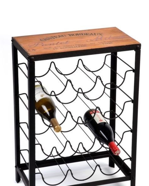 Wood Metal French Wine Rack Wine Rack Wood Wine Rack Table